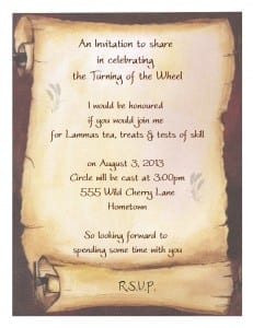 Lammas Tea Invitation