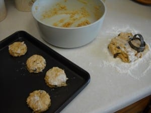 Red Lentil and Oatmeal Scones from My Kitchen Wand
