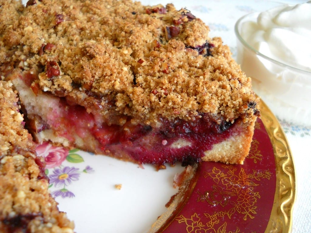 Italian Prune Plum Cake with Streusel Topping from My Kitchen Wand