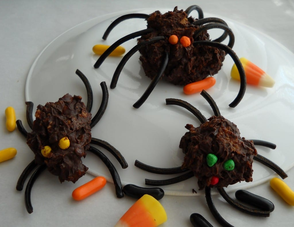 Crunchy Chocolate Spiders from My Kitchen Wand