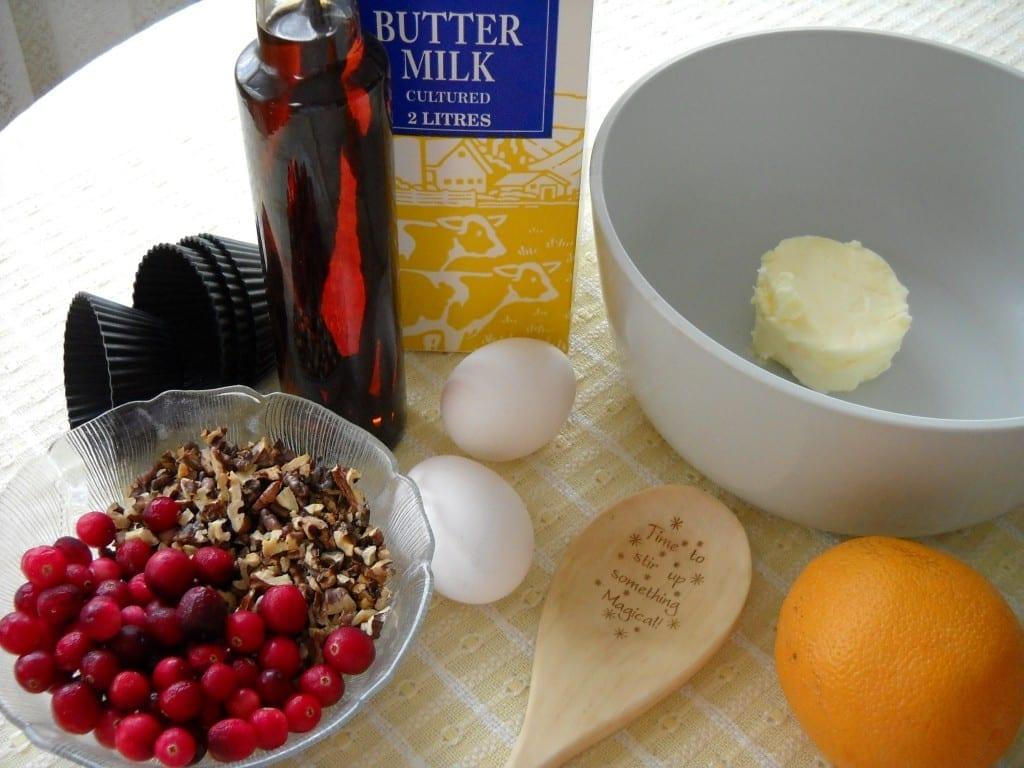 Walnut Cranberry Muffins from My Kitchen Wand
