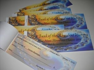 Abundance Cheques from My Kitchen Wand