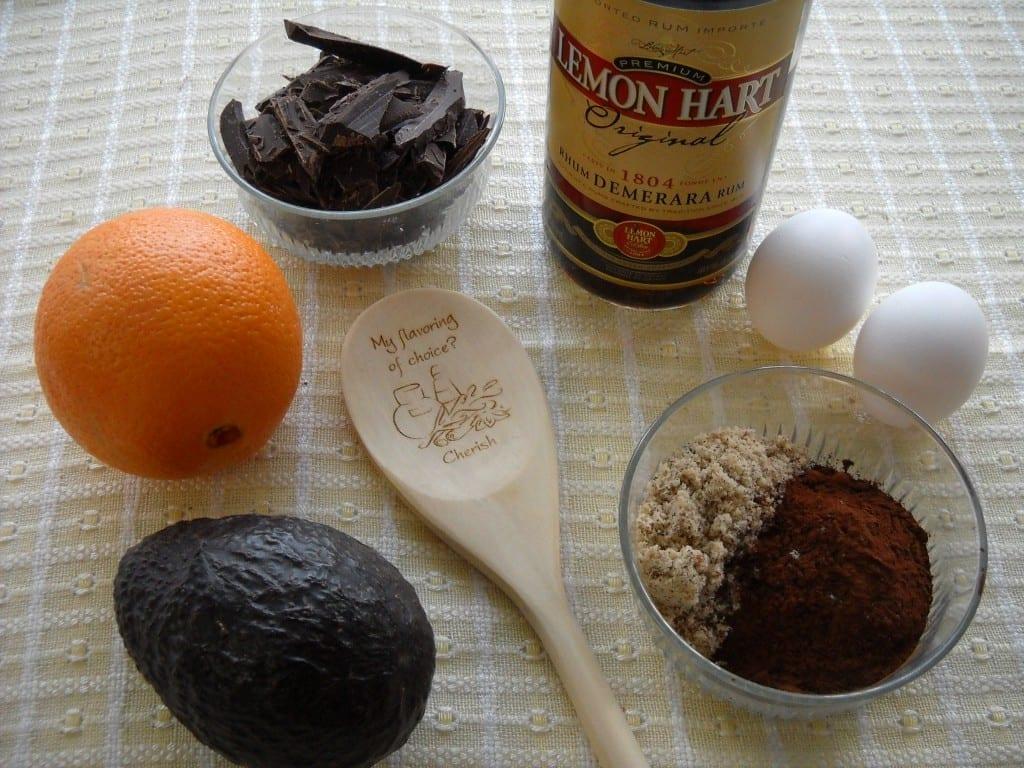Avocado Brownies with Orange, Rum & Hazelnuts from My Kitchen Wand