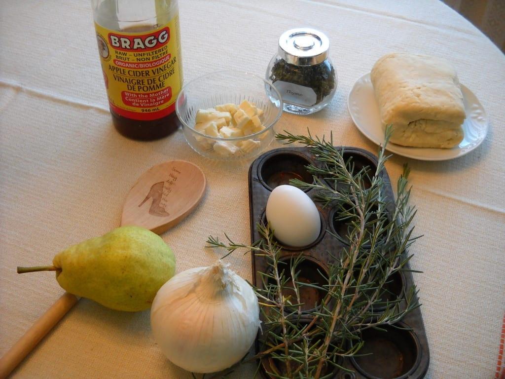 Pear, Camembert & Rosemary Tarts from My Kitchen Wand