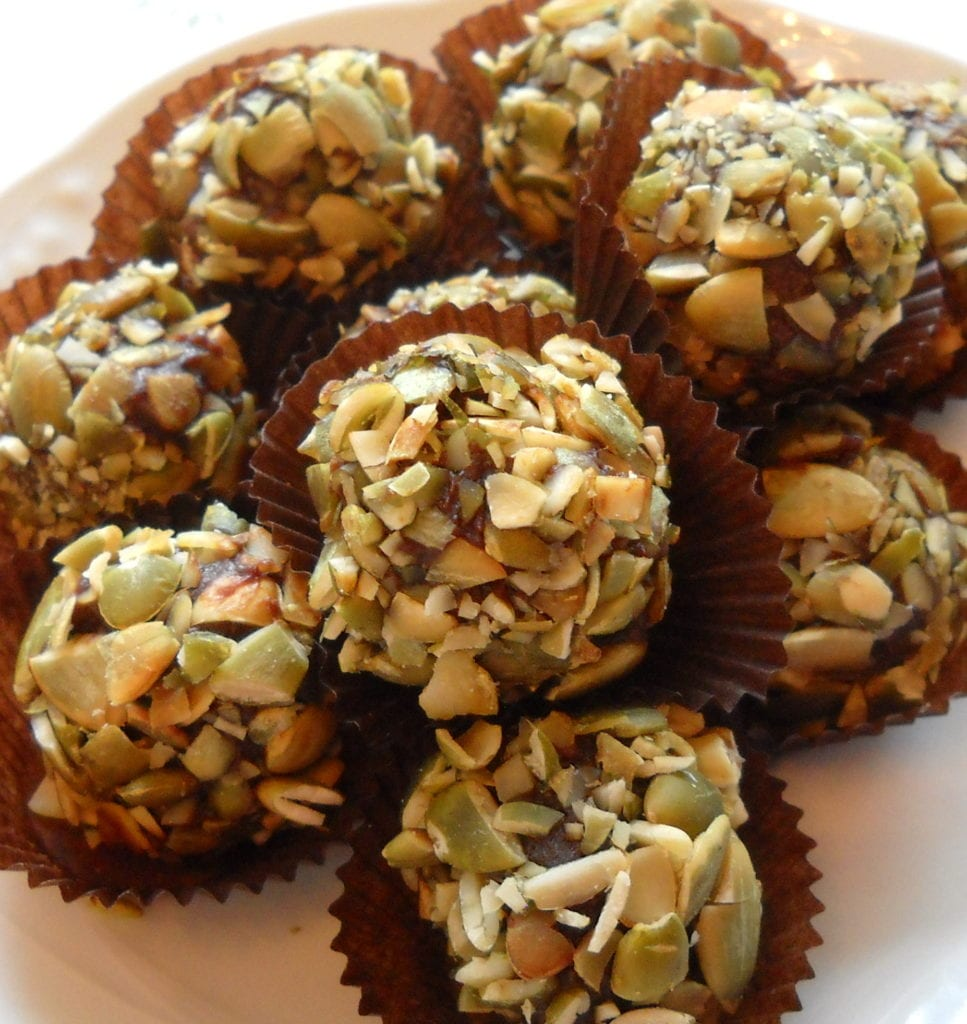 Pumpkin Seed Oil Truffles from My Kitchen Wand