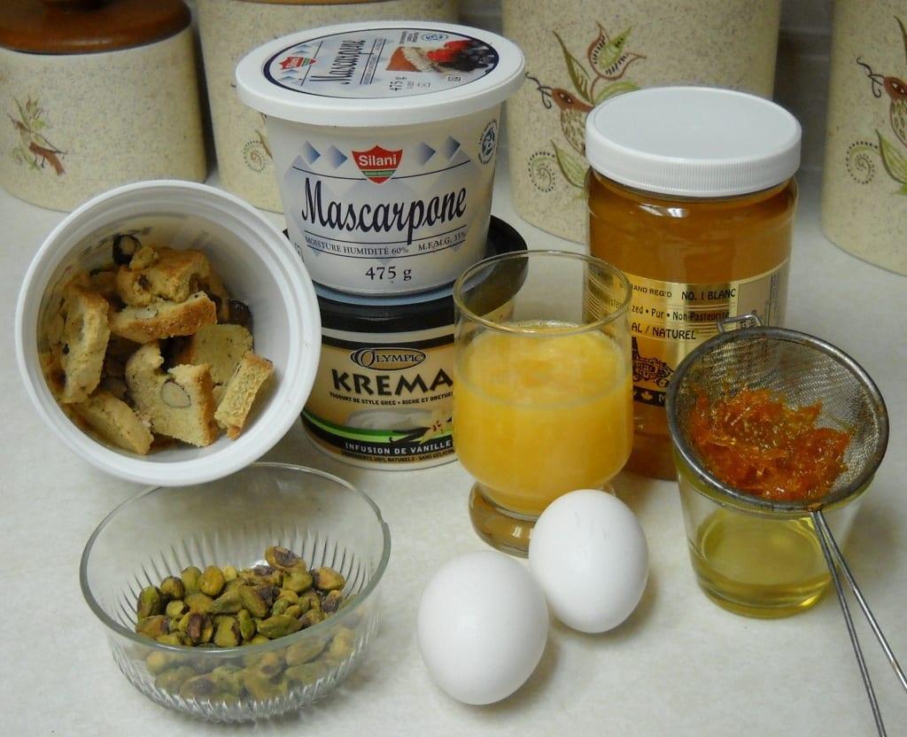 Orange, Pistachio, Biscotti Semifreddo from My Kitchen Wand