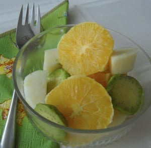 Serving suggestions for Oranges in Cardamon, Cinnamon and Rosewater Syrup from My Kitchen Wand