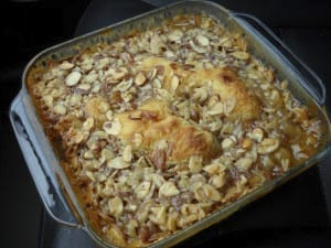 Whipping Cream Cake with Almonds and Apricots from My Kitchen Wand