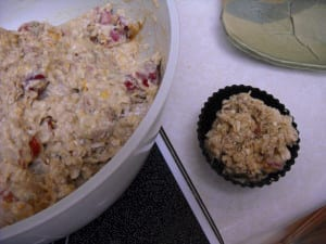 Rhubarb & Orange Oatmeal muffins with Hazelnut topping from My Kitchen Wand