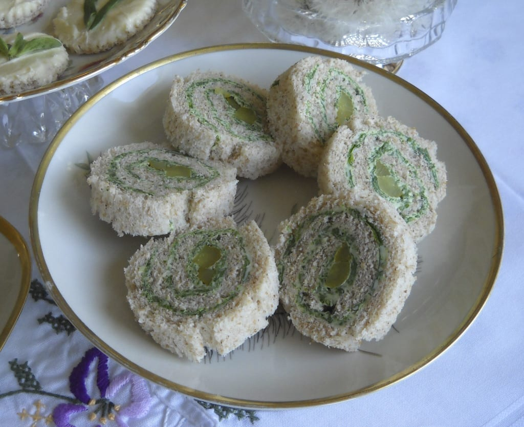 Japanese Knotweed Pinwheel Sandwiches from My Kitchen Wand