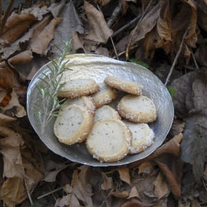 Rosemary Ginger Shortbread from My Kitchen Wand