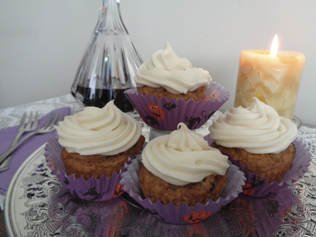 Roasted Butternut Cupcakes with Maple Syrup Cream Cheese Frosting from My Kitchen Wand