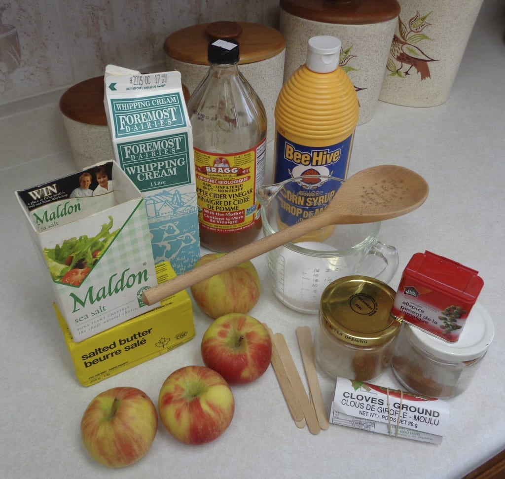 Spiced Apple Cider Vinegar Caramel Apples from My Kitchen Wand