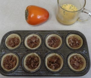 Prosciutto Persimmon Tarts from My Kitchen Wand