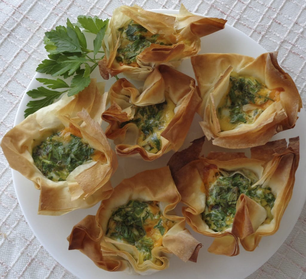 Herbs and Eggs in filo from My Kitchen Wand