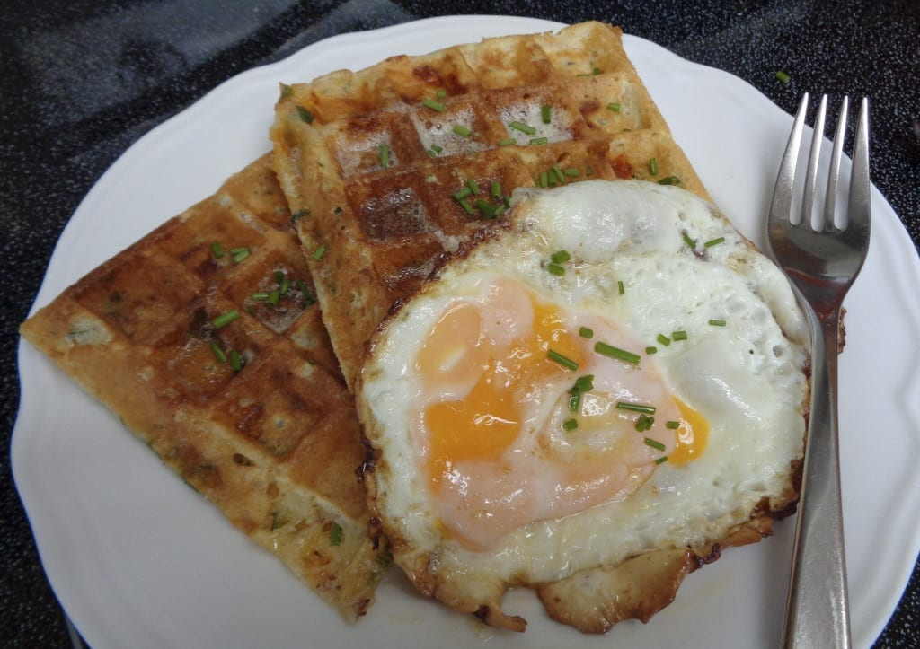 Savoury Herb & Cheese Waffles from My Kitchen Wand