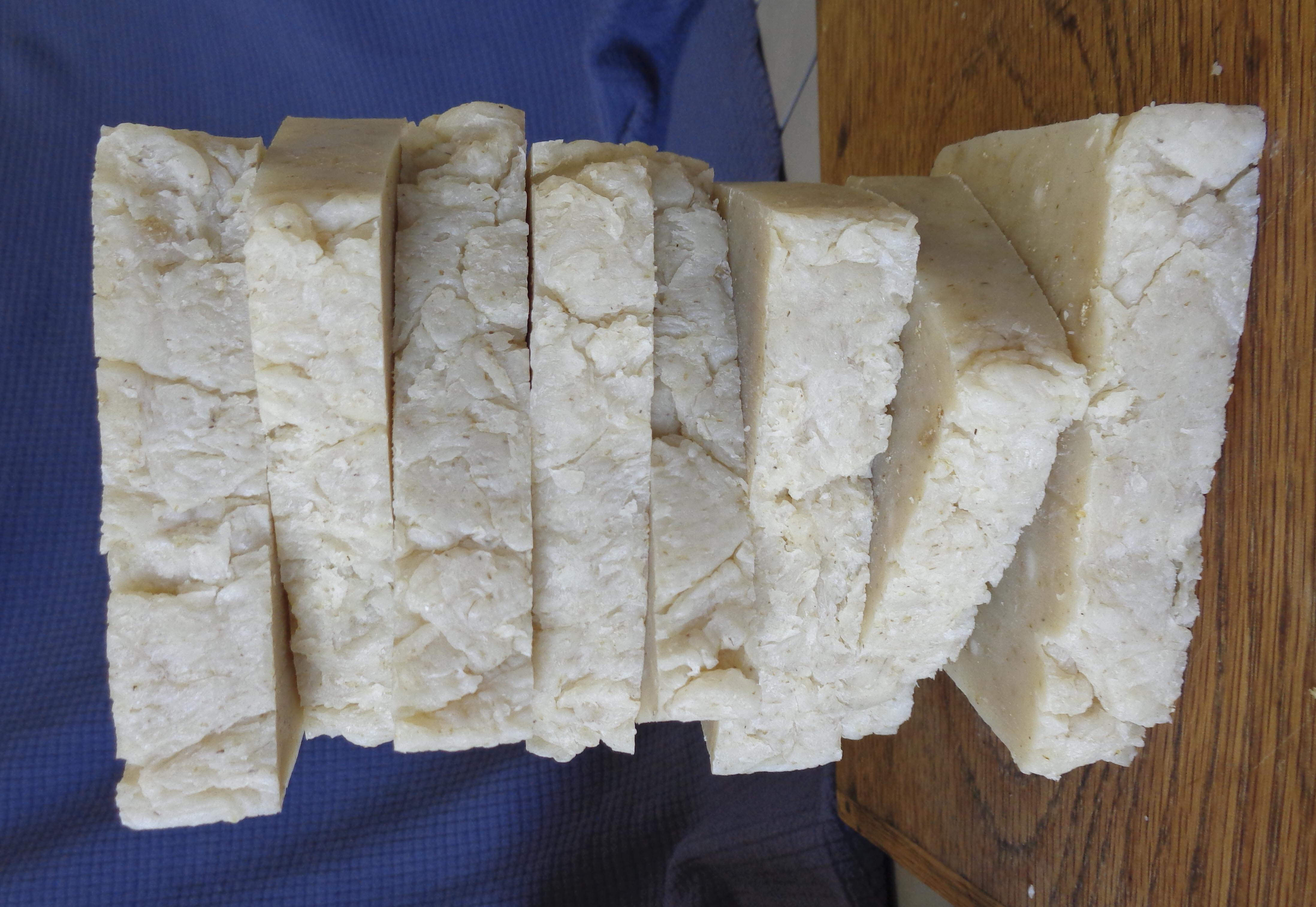 Hot process soap for Küchen wand