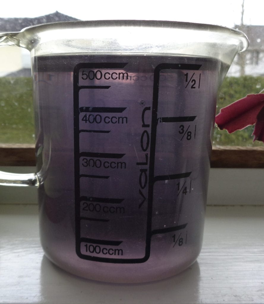 Using violets to test ph from My Kitchen Wand