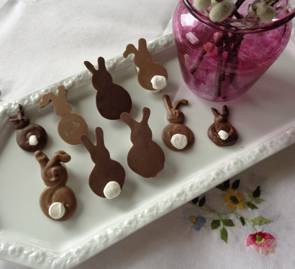 Making freehand Easter Bunnies from My Kitchen Wand