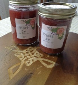 Quick & Easy Rhubarb Jam with Orange Zest from My Kitchen Wand