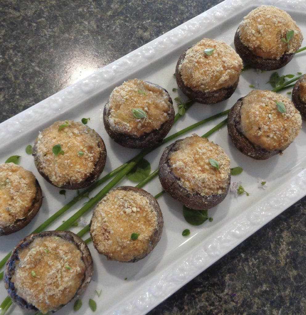 Stuffed Mushroom Caps from My Kitchen Wand