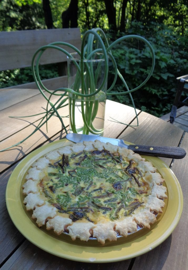 Roasted Aspargus and Garlic Scape Quiche from My Kitchen Wand.