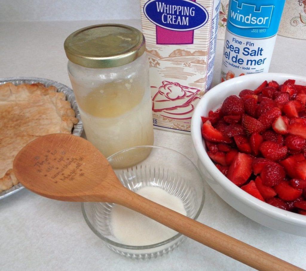 Strawberry Bavarian Cream Pie from My Kitchen Wand