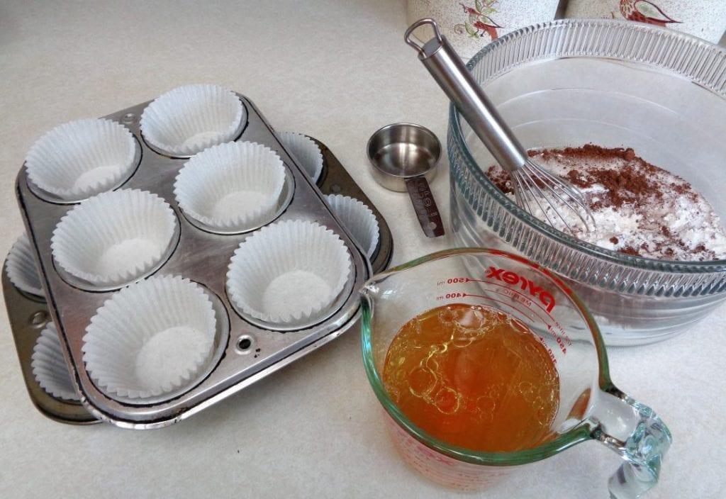 Vanilla Whiskey Chocolate Cupcakes from My Kitchen Wand