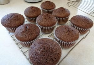 Vanilla Whiskey Chocolate Cupcakes from My Kitchen Wand