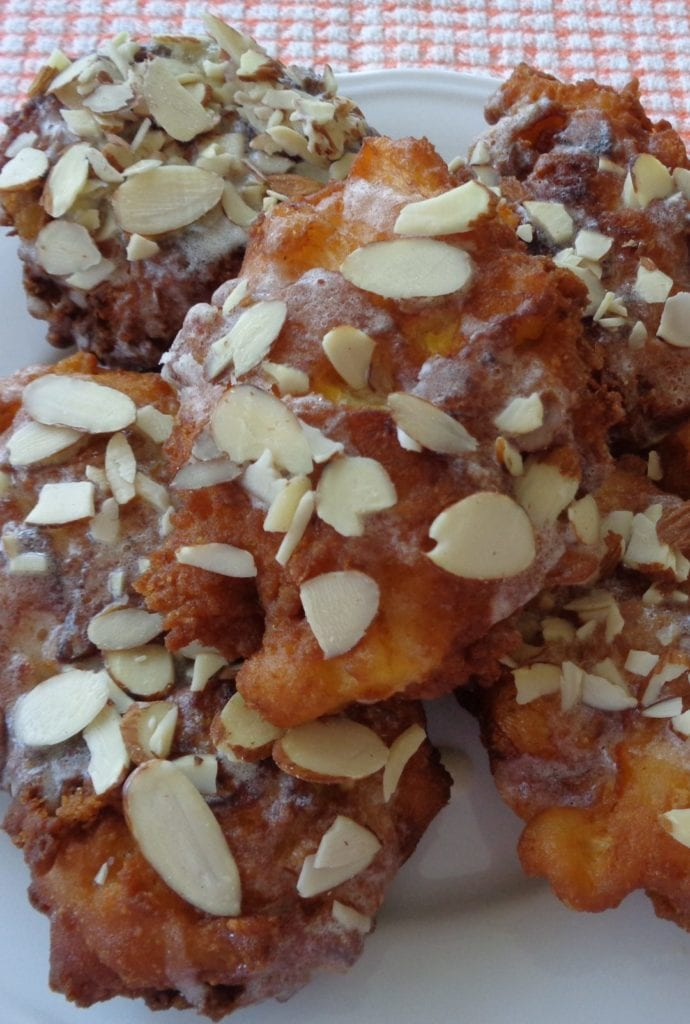 Peach & Ginger Fritters with Buttermilk & Almonds from My Kitchen Wand