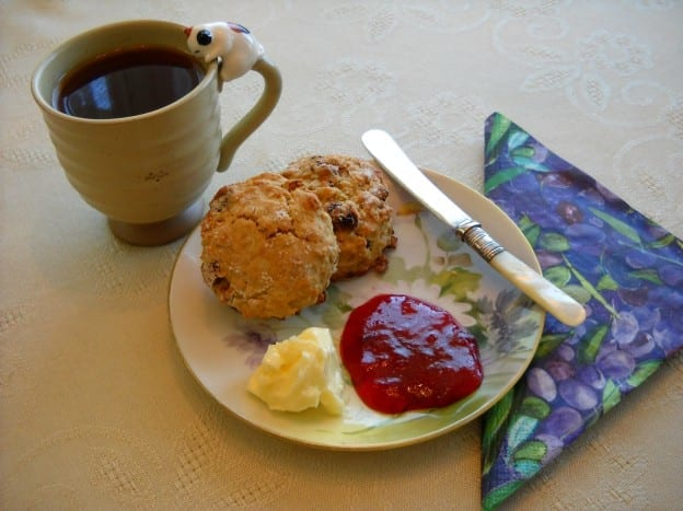 Part Ten: Red Lentil and Oatmeal Scones with dried fruit from My Kitchen Wand
