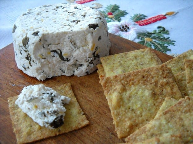 Thyme & Lemon Buttermilk Cheese & Spiced Pumpkin Seed Crackers from My Kitchen Wand