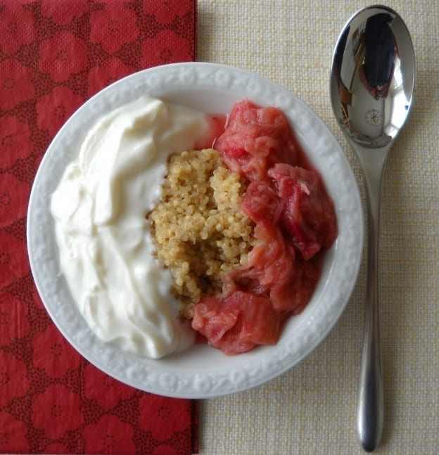 Quinoa Pudding with rhubarb and yoghurt from My Kitchen Wand