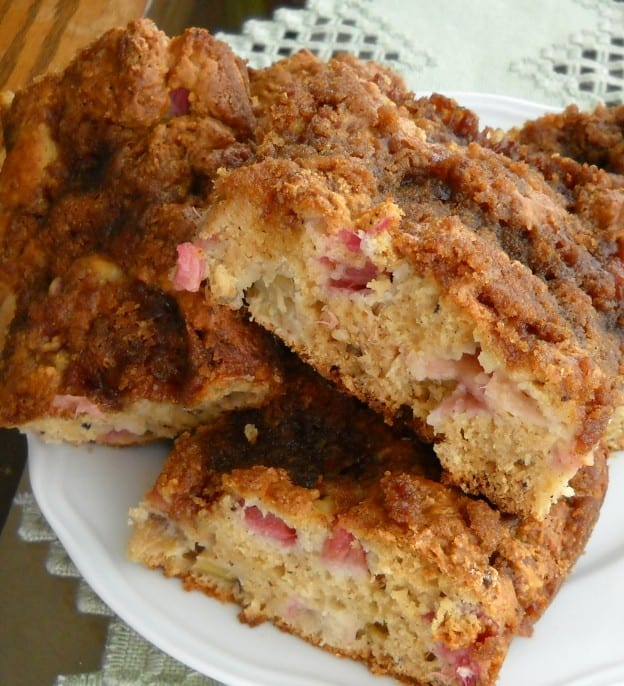 Rhubard Nut Coffee Cake from My Kitchen Wand