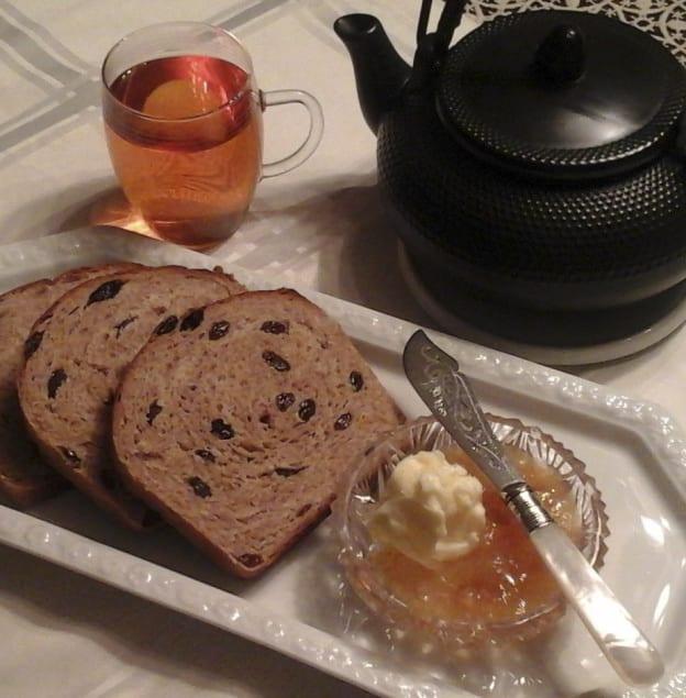 100% Whole Wheat Raisin Cinnamon Bread from My Kitchen Wand