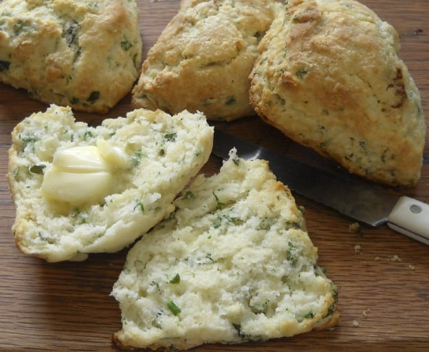 What do I do with my herbs? Baking Powder Biscuits from My Kitchen Wand