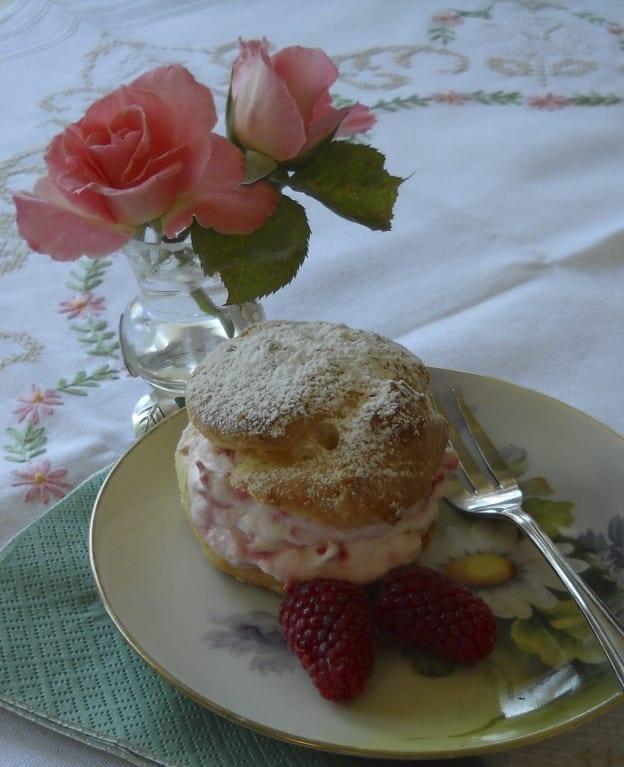 Rose & Raspberry Profiteroles from My Kitchen Wand