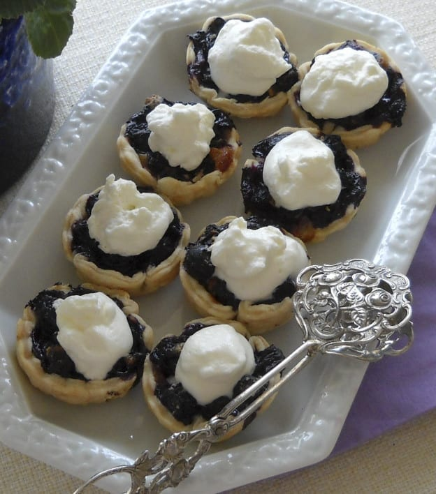 Blueberry Cinnamom Cheese Tarts from My Kitchen Wand