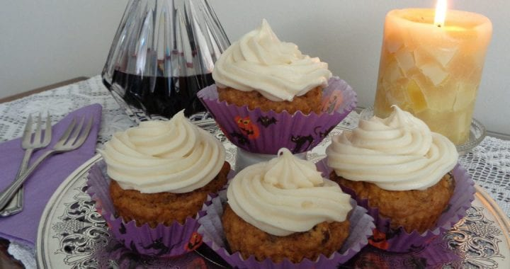 Roasted Butternut Cupcakes with Maple Cream Cheese Frosting (or not) from My Kitchen Wand