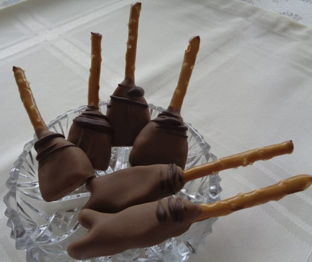 Salted Caramel Broom and Quidditch Sticks from My Kitchen Wand