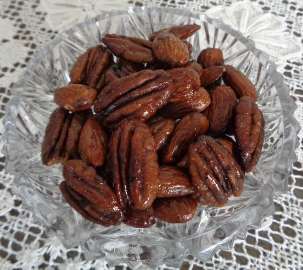 Five Spice & Cayenne Candied Nuts from My Kitchen Wand