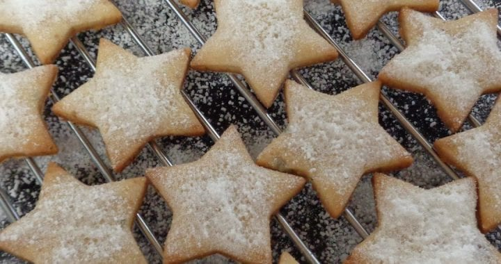 Rosemary Ginger Shortbread Stars from My Kitchen Wand