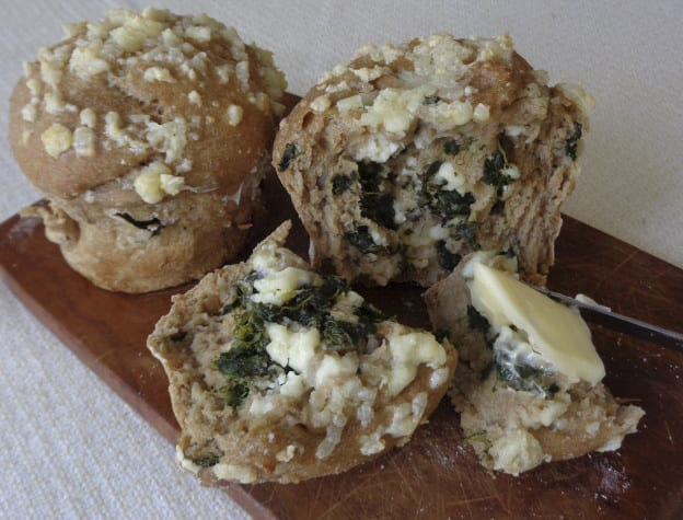 Feta Spinach Einkorn Buns from My Kitchen Wand