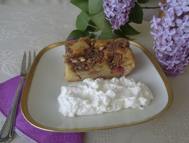 Rhubarb Nut Buttermilk Cake from My Kitchen Wand