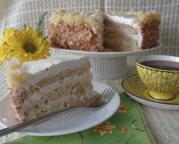 Pina Colada Cake from My Kitchen Wand