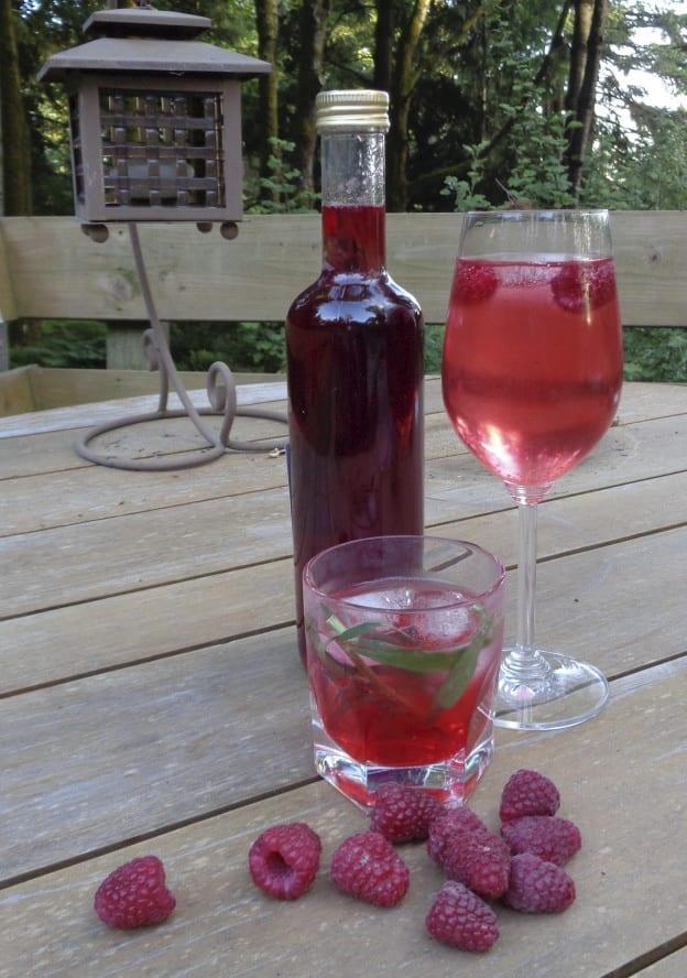 Raspberry Tarragon Shrub