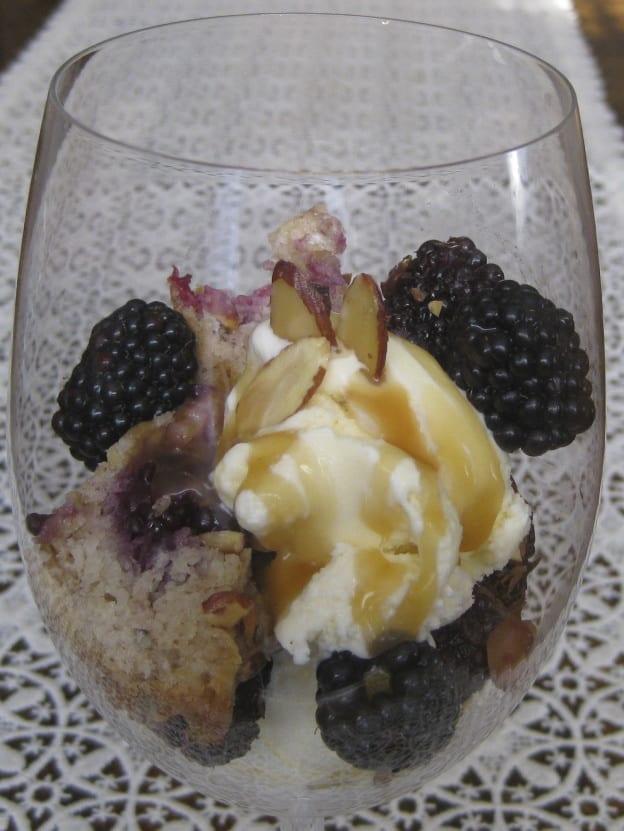 Blackberry Buckle Sundae from My Kitchen Wand