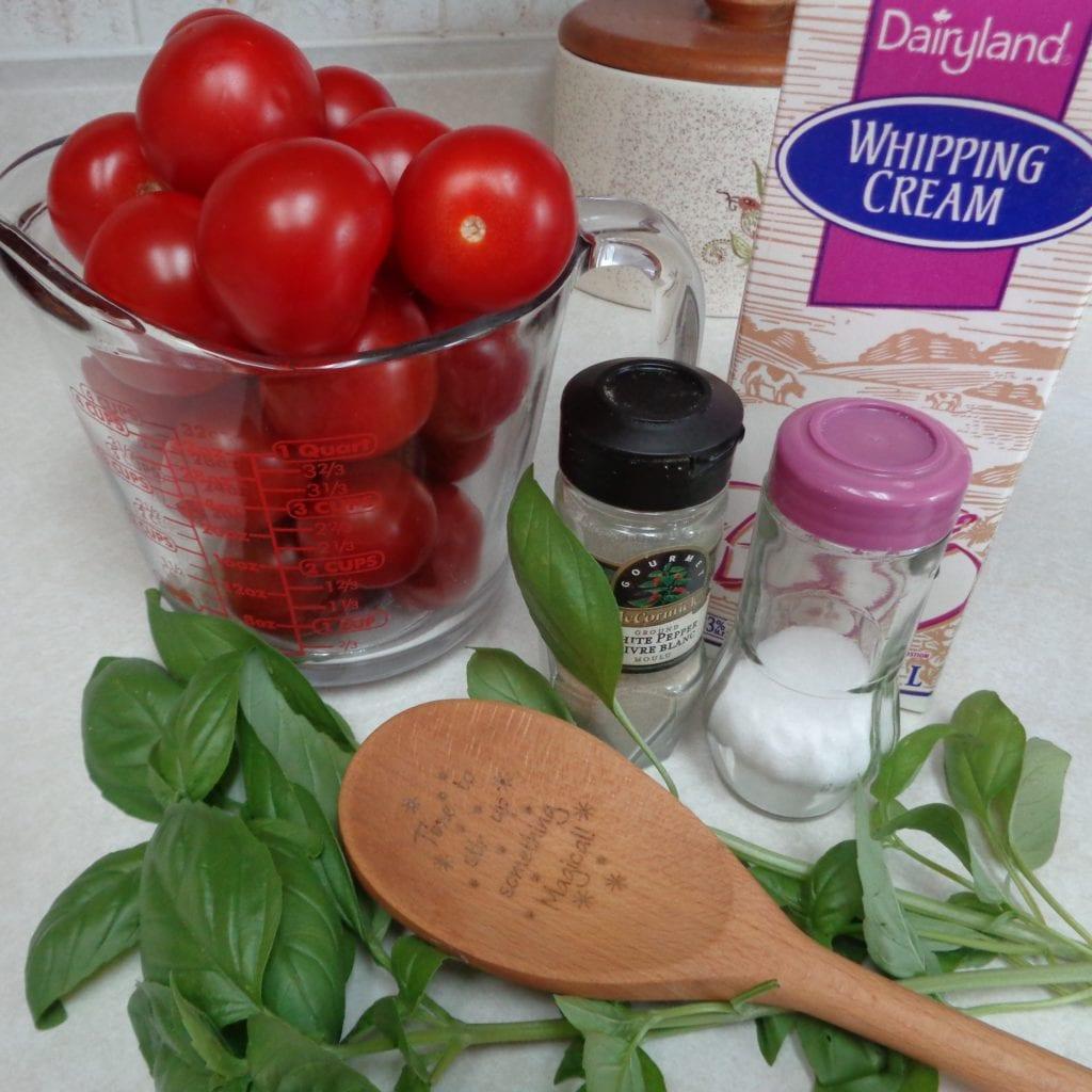 Creamy Tomato Basil Soup from My Kitchen Wand