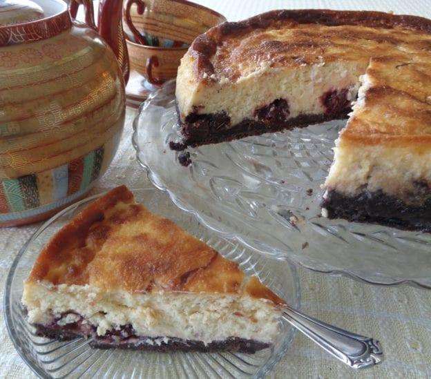 Cherry Chocolate Cheesecake from My Kitchen Wand