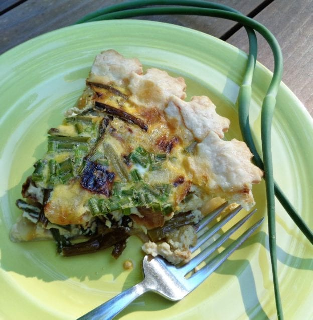 Roasted Aspargus & Scape Quiche from My Kitchen Wand
